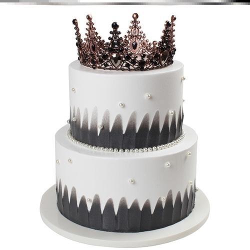 样品两层创意假蛋糕摆件过寿三层仿真道具橱窗双层蛋糕模型加高