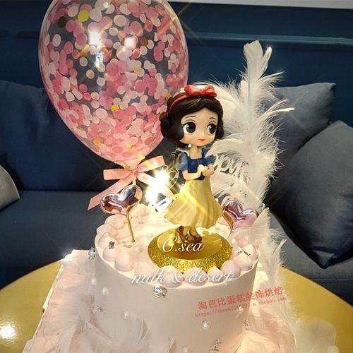 底座小公主蛋糕装饰摆件 女童女生女神冰雪女王 生日