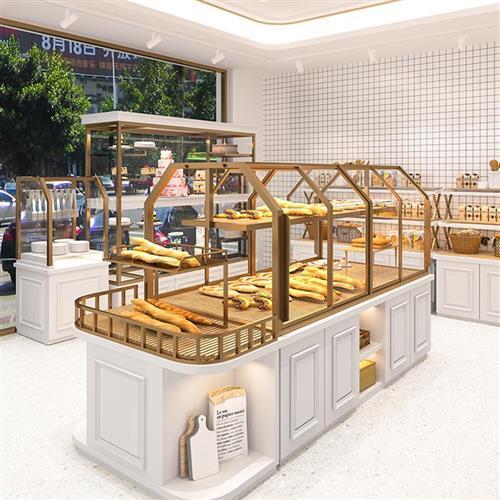 面包柜面包展示柜糕点柜桃酥柜饼干柜玻璃蛋糕店烘焙