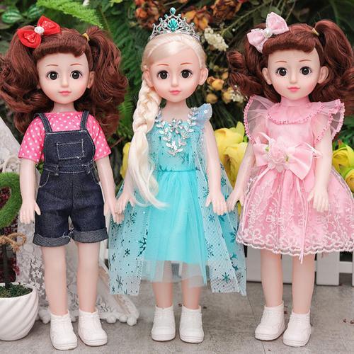 会说话的乐克尔芭比娃娃婴儿童玩具智能仿真洋娃娃