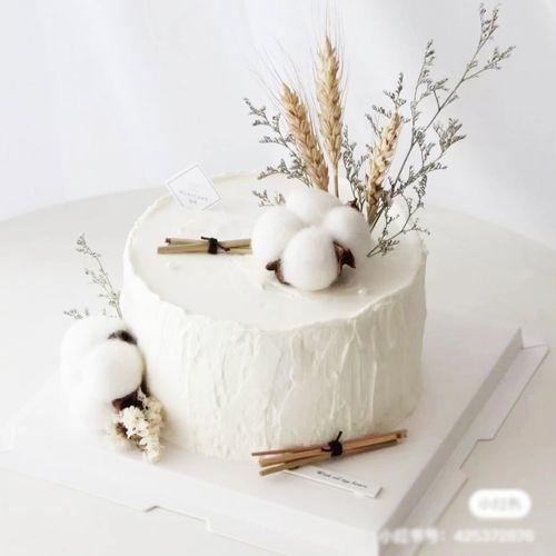 木棉花ins生日蛋糕装饰摆件网红蛋糕插件创意北欧风格