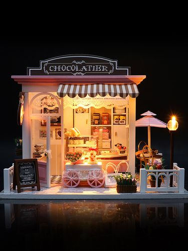 diy小屋咖啡屋蛋糕店diy艺术屋手工制作小屋迷你房子