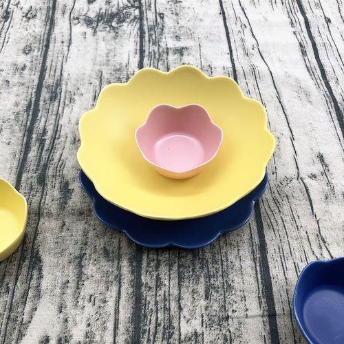 北欧创意菜盘陶瓷餐具家用大汤简约面西餐盘蛋糕盘
