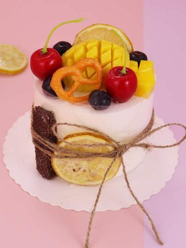高档蛋糕迷你糕点4寸生日奶油模型仿真欧式假蛋糕样品