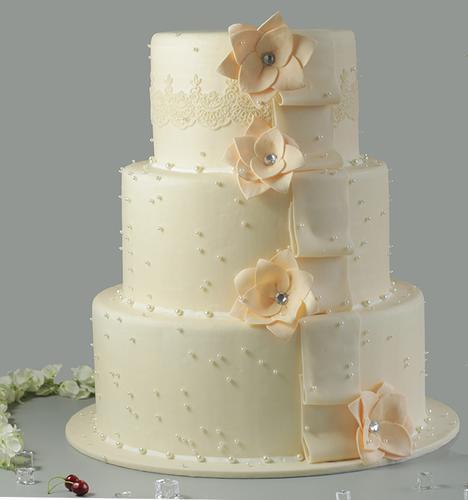 翻糖立体蛋糕模型 仿真食物模型翻糖蛋糕珍珠花材料