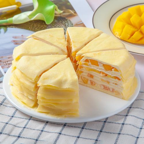 味之初芒果千层蛋糕千层盒子生日蛋糕榴莲金枕头水果