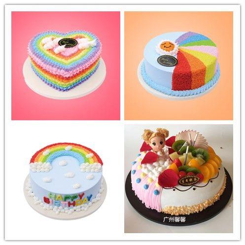 2018新款蛋糕模型仿真生日个性创意卡通彩虹橱窗展示