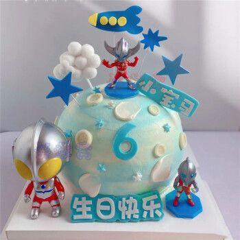 奥特曼生日蛋糕儿童蛋糕同城定制上海广州深圳杭州全国配送 o款 8