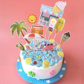 儿童手工diy仿真奶油土6寸蛋糕制作轻粘土生日蛋糕材料套装礼物