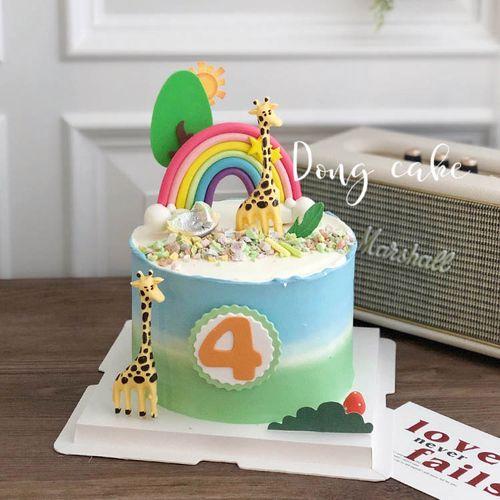 东哥同款云朵长颈鹿硅胶模具手工翻糖蛋糕模翻糖巧克力烘焙装饰