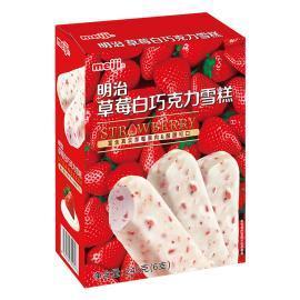 明治草莓白巧克力雪糕245g 盒装(6只)