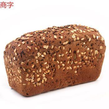 俄罗斯风味燕麦麸大列巴面包黑粗杂粮饱腹感代餐健身食品(400到500克