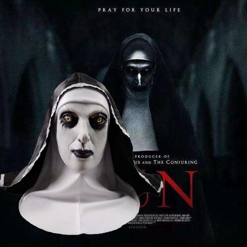 修女面具cos招魂2万圣节恐怖面具鬼脸电影视整蛊吓人