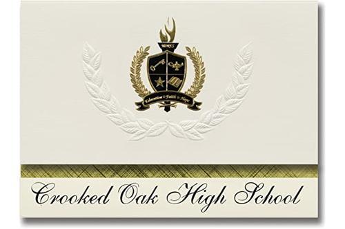 标志性公告 crooked oak 高中(奥克拉荷马城,ok)毕业宣布,总统风格,25