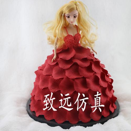 致远新款仿真蛋糕模型欧式婚庆庆典生日芭比娃娃翻糖