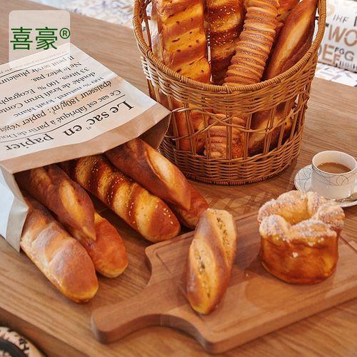 仿真面包欧包法棍食物模型烘培店橱窗摆设软香回弹样板房摄影道具