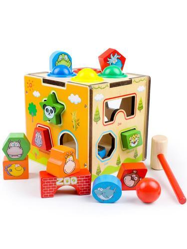 儿童形状配对积木一岁半宝宝益智玩具男女孩早教六面