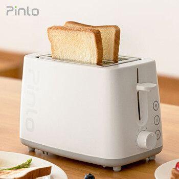 小米生态(pinlo)烤面包机家用多功能多士炉6档烘烤不锈钢内胆吐司加热