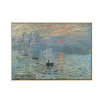 玖福莫奈油画世界名画日出印象风景壁画抽象画客厅装饰画艺术餐厅挂画