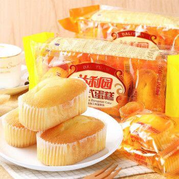 早餐面包糕点办公室下午茶点心零食小吃 欧式蛋糕225g-香橙味(买一送