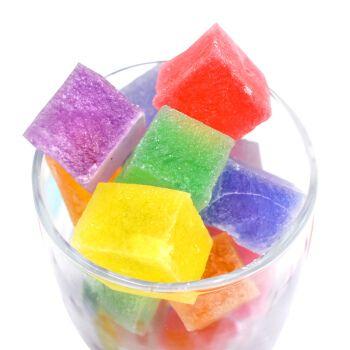 网红琥珀糖抖音零食韩国咀嚼软糖手工糖彩虹果冻水晶宝石糖水果糖 150