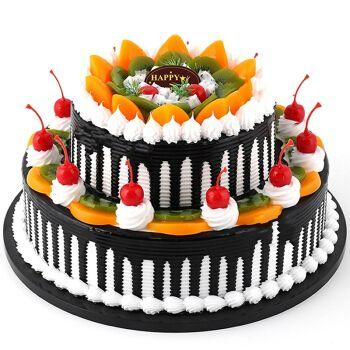 双层生日蛋糕当日送达速递创意心形水果蛋糕预定上海广州合肥深圳