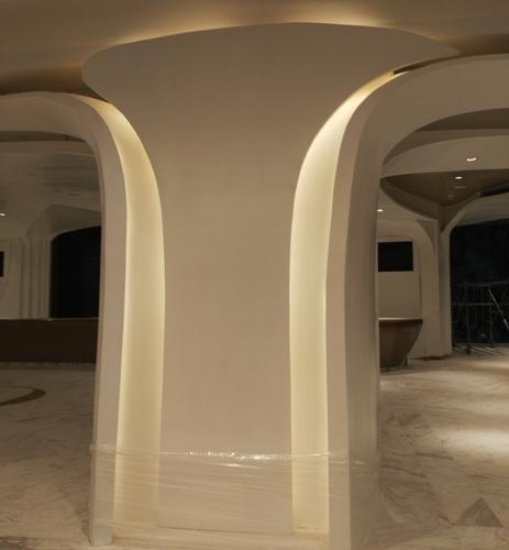 grg弧形吊顶双曲面造型电视墙欧式石膏装饰平板