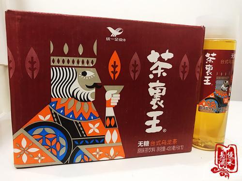 统一茶里王台式无糖零糖乌龙茶绿茶420ml*12瓶整箱装