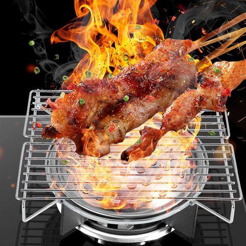 灶台室内烤炉野餐上用燃气架烤肉烧烤家用架子煤气炉灶架烧烤烤盘
