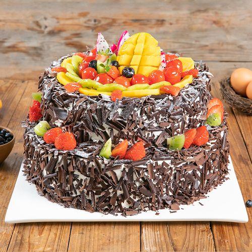 【新品 双层6磅森林果乐】鲜果,巧克力,蛋糕的舌尖美味,适合20~25人