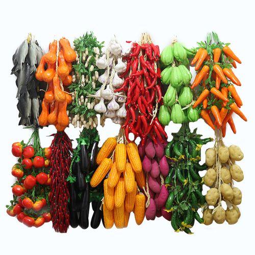 仿真蔬菜水果串挂件农家乐饭店幼儿园装饰串挂件仿真