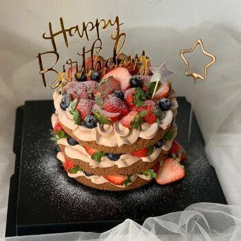 草莓--巧克力蛋糕胚 16英寸(适合15-19人食用)