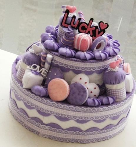 不织布蛋糕组合制作亲子有趣毛毡手做材料包手工套装