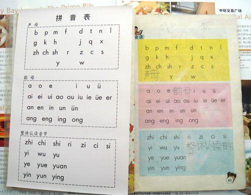 幼儿认字贴纸,无图识字卡片-拼音表 声母\韵母\整体认