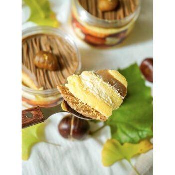 网红零食日式栗子蒙布朗蛋糕盒子秋季甜品动物奶油 栗子蒙布朗蛋糕