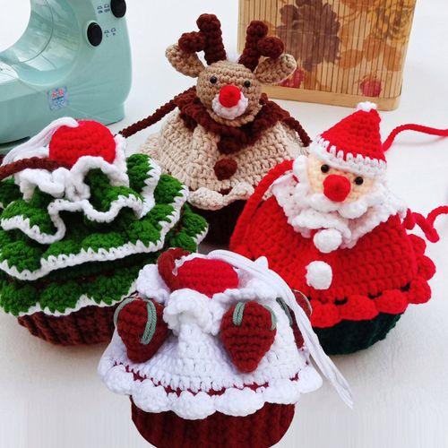 圣诞树蛋糕包老人束口包红草莓新手教程视频材料包