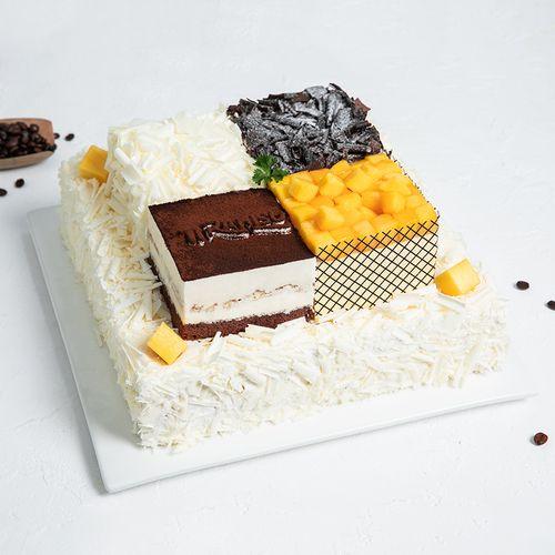 【双层6磅大蛋糕】四重奏—6磅468元(延安)