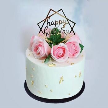 蛋糕模型仿真 2020新款网红蛋糕模型 创意卡通水果生日蛋糕样品 鲜花