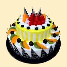 新款塑胶两层生日蛋糕模型 2层假蛋糕模型新款上市蛋糕模型sg55