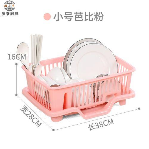 碗盘家用厨房多功能碗碟收纳架沥水碗架双层加厚放碗筷的架子简易