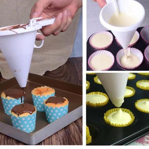 烘焙漏斗分量杯奶油糖霜巧克力分液器果汁分离杯章鱼丸子蛋糕工具