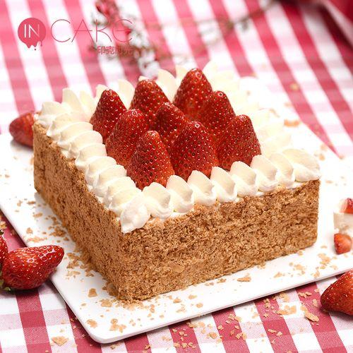 incake草莓拿破仑生日蛋糕映悦新鲜乳脂奶油蛋糕同城