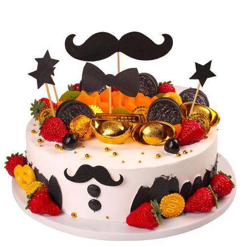 高档2021蛋糕模型 新款创意流行生日蛋糕模型 假蛋糕