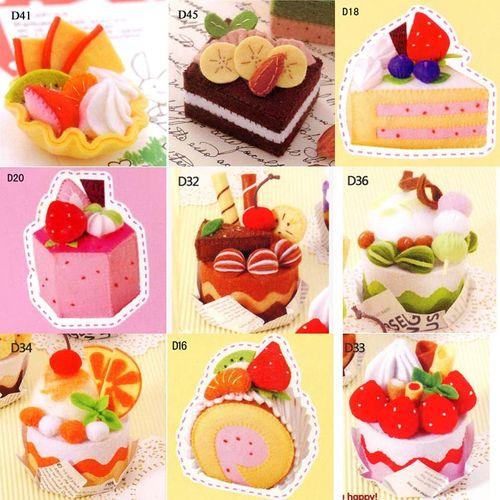 19包邮 手工制作布艺diy不织布蛋糕材料包学生幼儿园