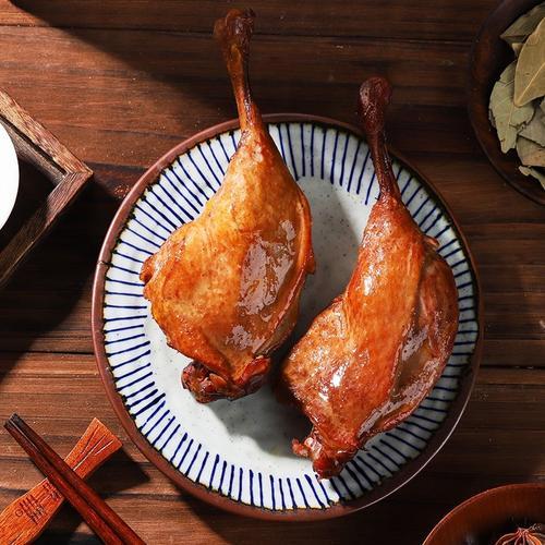 米熏鸭腿卤味熟食好吃的肉食熟食即食真空卤鸭腿网红