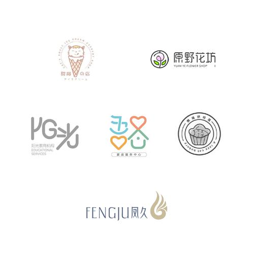 蛋糕花店logo设计原创标志品牌企业商标注册店标卡通