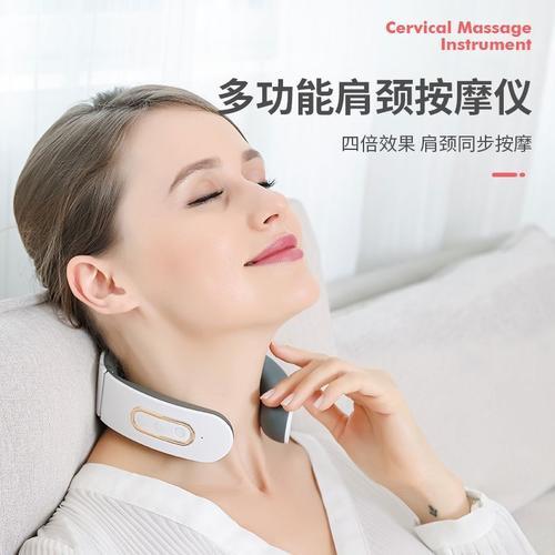 颈部按摩器脊椎颈椎家用护颈仪低头族小米神器肩颈