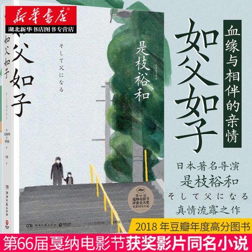 正版 如父如子 是枝裕和 第66届戛纳电影节获奖影片同名小说