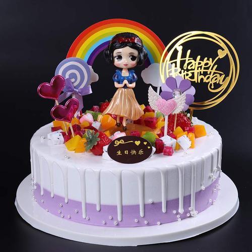 水果蛋糕2021新款网红生日蛋糕模型卡通假蛋糕模型