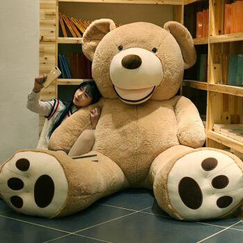 爱尚熊泰迪熊公仔毛绒玩具女孩抱枕布娃娃熊猫公仔女生大号抱抱熊玩偶
